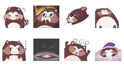 A day of Chestnut Raccoon on a day.