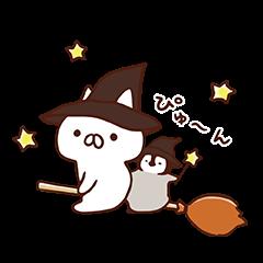 ねこぺん日和秋スタンプ