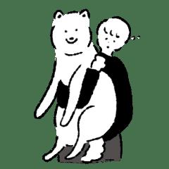 シンプルな柴犬たち