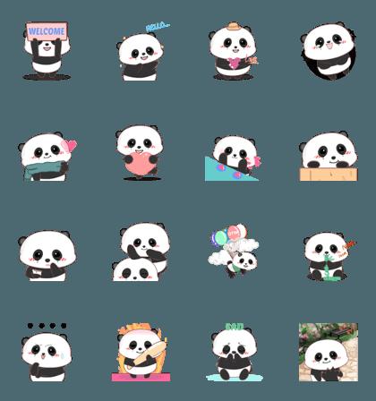 Baby panda : Animated