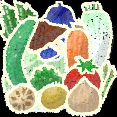 刺繍風野菜