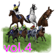 Sticker Of Horse Racing 4