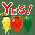Vegetables team Sticker
