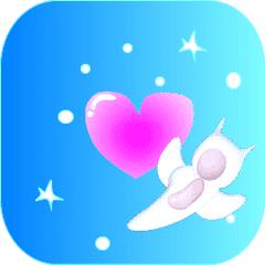 Moving winter fairy animal sticker