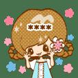 かわいい女の子(ロング)カスタムスタンプ