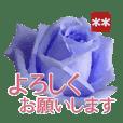 創れる落款印(遊印)… 青い薔薇 カスタム
