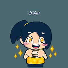 Girl Custom Sticker