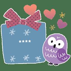 Owl happy message
