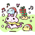 a giraffe and the friends Holiday'19 ver