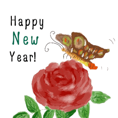 Happy new year flower blessing