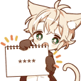 NEKOMIMI boy custom sticker!!
