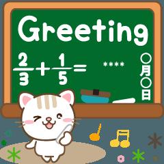 Cat custom sticker for school life thai