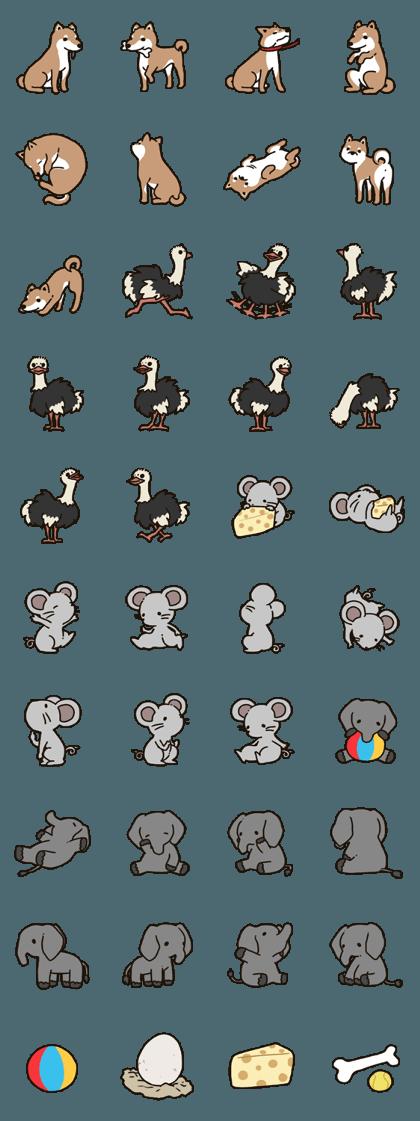 Animal stickers! IRAStudio