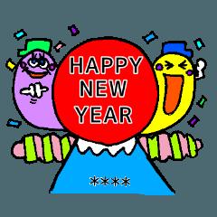 winter custom stickers Xmas and NEW YEAR