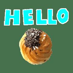 小さいお菓子チョコトッピング手書き風文字
