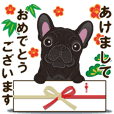 French bulldog's brindle sticker. 2