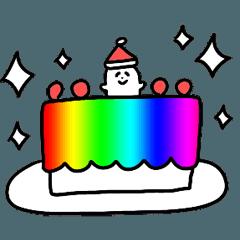 Rainbow winter sticker