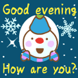 A hearty message of falling snow