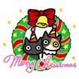Sticker of Socks cat and caliko cat.No.5