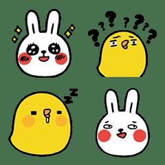 อิโมจิไลน์ Lazy Rabbit & Mr.Chu Emoji