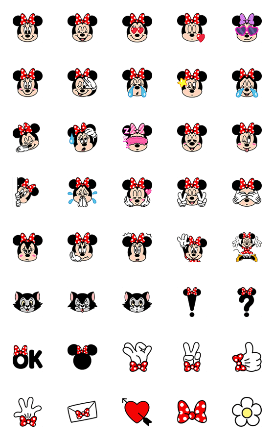 Minnie Mouse Emoji Line Emoji Line Store