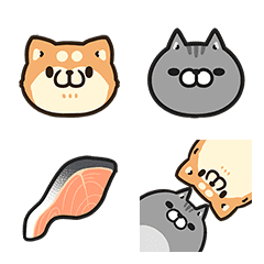 Plump dog & Plump cat 表情貼