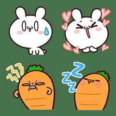อิโมจิไลน์ กระต่ายขี้เล่นกับแครอทคู่ใจ อีโมจิ