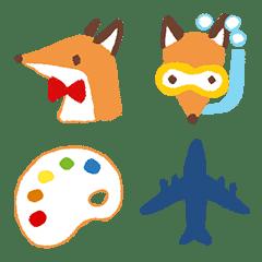 อิโมจิไลน์ Lovely Little Fox Emoji
