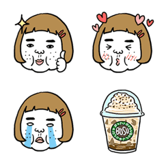 Ugly but charming woman Pictograph