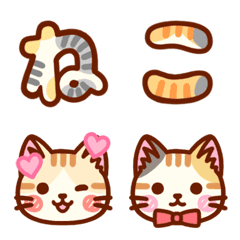 Emoji of the cat's hair patter(Japanese)