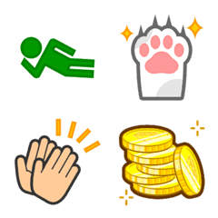 Cat hand and  Pictogram and Hand sign