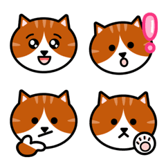 Orange and white tabby cat face Emoji