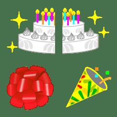 connecting emoji to celebrate