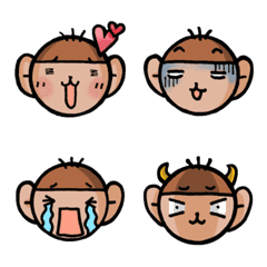 OCHARU the monkey in Osaka for Emoji