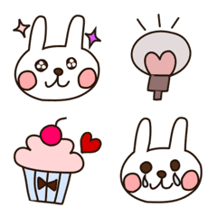 Rabbits and everyday  emoji