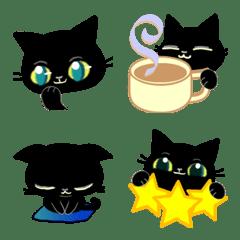 黑貓的圖畫文字