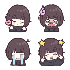 Menhera-little girl. Emoji 1