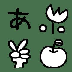 Simple handwrite emoji