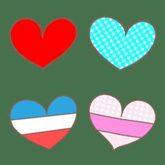 可愛的心象形文 Emoji Heart