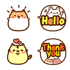 Bean animals  Speech balloon – LINE Emoji | LINE STORE