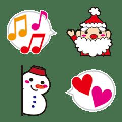 圣诞老人和雪人(Emoji)1