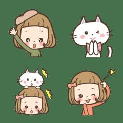 Emoji a short bang girl