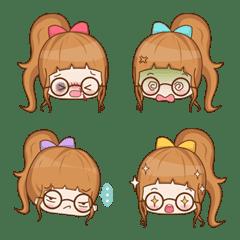 Glasses girl Emoji
