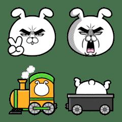 Attractive eye's rabbit Emoji