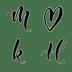 Modern Calligraphy Emoji - Noir