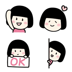 Bob haircut girl emoji – LINE Emoji   LINE STORE