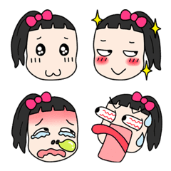 A little girl Emoji – LINE Emoji   LINE STORE