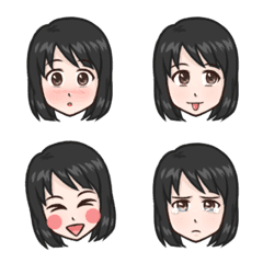 Lovely Girl Emoji – LINE Emoji   LINE STORE