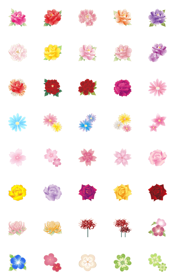 Flower – LINE Emoji   LINE STORE