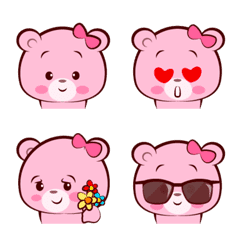 หมีพิงค์กี้ อิโมจิ